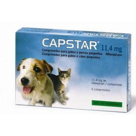 Capstar - 11.4 mg CHAT et CHIOT 1-11 kg - 6 comprimés