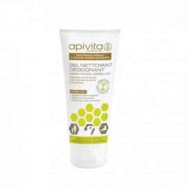 Apivita - Déo gel nettoyant pieds - aisselles - Tube 200 ml
