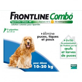 Frontline Combo - Chiens 10/20 Kg - 6 Pipettes