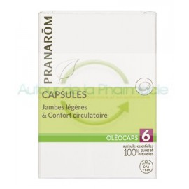 Oléocaps N°6 Jambes légères & Confort circulatoire - Pranarôm - 30 Capsules