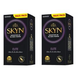 Manix - Skyn Elite Préservatifs - Lot de 2 x 20 préservatifs