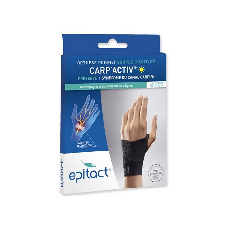 Epitact - Orthèse Poignet Carp'Activ - Syndrome Canal Carpien - Taille S Gauche
