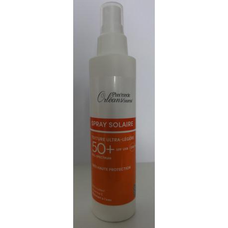 Sray Solaire SPF UVB 50+ et UVA - Texture Ultra-légère - 150 ml