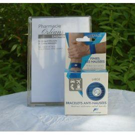 PharmaVoyage - Bracelets Anti-Nausées - 1 paire taille L BLeu