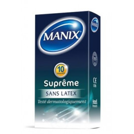 Manix - Suprême Préservatifs sans latex - 10 préservatifs