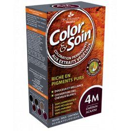 Color & Soin - Coloration 4M - Châtain Acajou