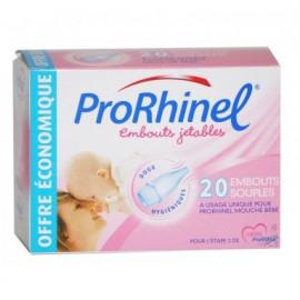 Prorhinel - Recharges Embouts Jetables Souples Pour Mouche-bébé - Boite de 20