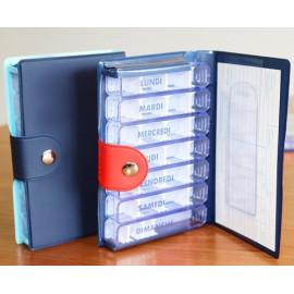 Medidose - Pilulier Semainier 7 Jours Magnien - Rouge ou Bleu