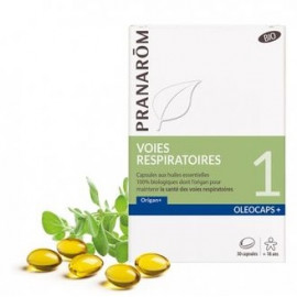 Oléocaps N°1 - Voies Respiratoires Origan+ - Pranarôm - 30 Capsules