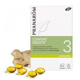 Oléocaps N°3 Confort Digestif - Pranarôm - 30 Capsules