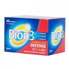 Bion 3 - Junior Framboise - 60 Comprimés À Croquer