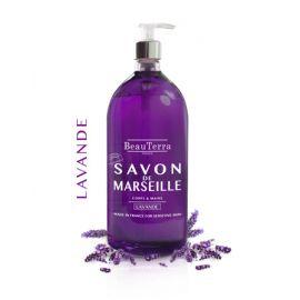 BeauTerra - Savon liquide de Marseille Lavande - 1 L