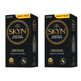 Manix - Skyn Original Préservatifs - Lot de 2 Boites de 20 préservatifs