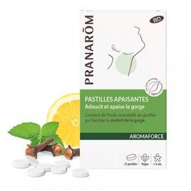 Pranarôm - Aromaforce - Pastilles pour la Gorge - 21 pastilles