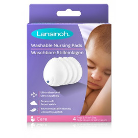 Lansinoh - Coussinets d'allaitement lavables - 4 Coussinets