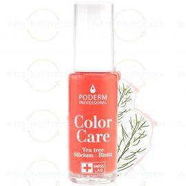 Poderm - Vernis Tea Tree Color Care - Couleur: Rose Corail - 8 ml