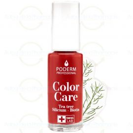 Poderm - Vernis Tea Tree Color Care - Couleur: Rouge Allure - 8 ml