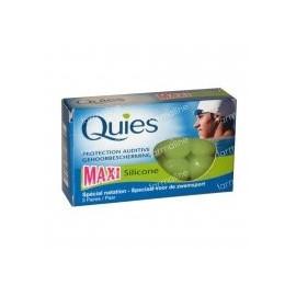 Quies - Protections Auditives Maxi silicone spécial natation - boîte de 3 paires