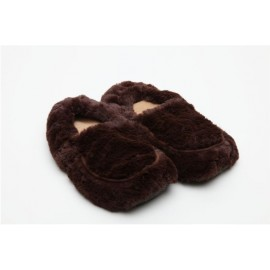 Soframar - Chaussons Bouillottes Graines Micro Onde - Cozy Chaussons Chocolat