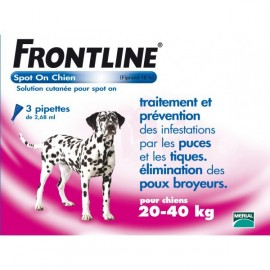 Frontline - Spot-On Chien 20/40 kg - 4 Pipettes