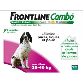 Frontline Combo - Chiens 20/40 Kg - 6 Pipettes