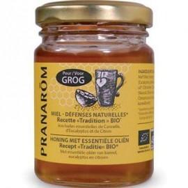 Pranarom - Miel Grog Défenses naturelles Huiles essentielles - 100 ml