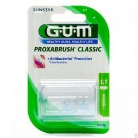 Gum - Brossettes Interdentaires Proxabrush Classic Conique Fine - Boîte De 8
